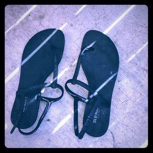 💋Old navy thong/sling back sandals blk size 9